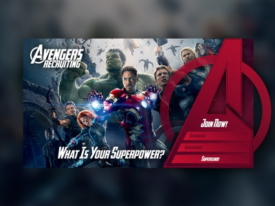 Avengers Recruitment Page