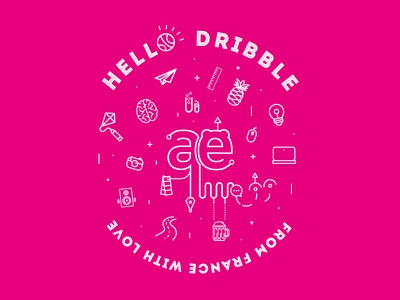 Hello Dribbble ! ui designer lyon ux designer lyon ux ui yael fazy hello hello dribble first shot