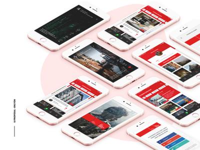 UI Interface proposal - EMLYON mobille app interface ui