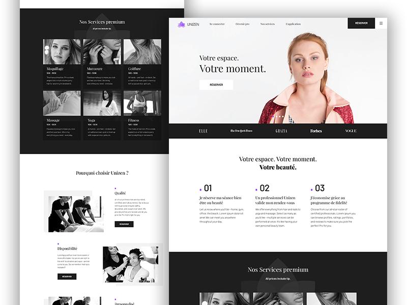 Marketplace - Institut Home minimalist modern institute agency model black white black  white
