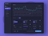 Diabolo dashboard trading graphic chart eth btc bitcoin tradingview purple trade set dashboard trading dark black minimal flat app ux branding ui design