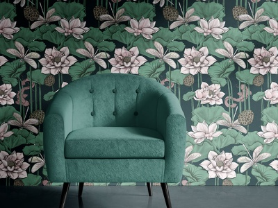 Wallpaper design procreate textile pattern textile design wallpaper designer wallpaper design surface pattern designer surface pattern design surface pattern surface design drawing illustration