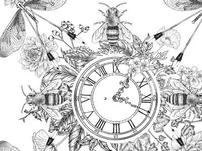 Illustration for scarf design procreate art procreate textile design textile scarf drawing illustration