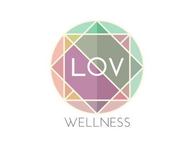 LOV Wellness Logo fitness health branding logo