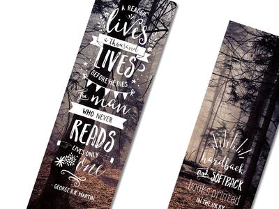 Promotional Bookmark typography print design
