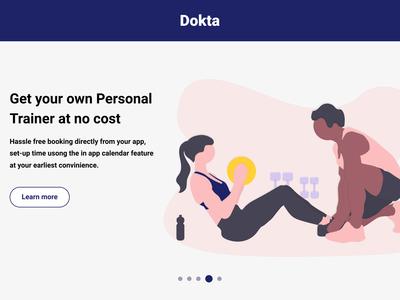 Dokta - Health & Wellness App - Personal Trainer page