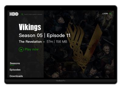 HBO Vikings S05 - Desktop Interface Concept