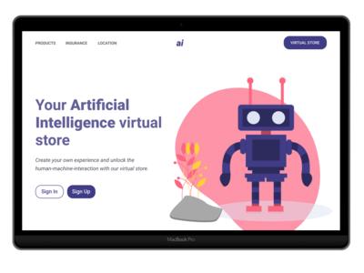 Landing page  - AI - Concept