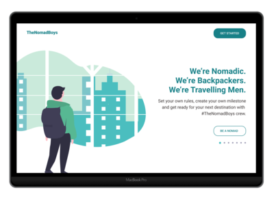 Landing page - Concept - The Nomad Boys