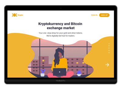 Krypto - Landing page - Concept