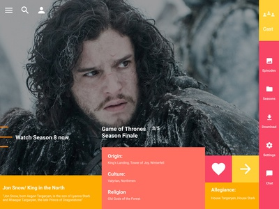 Game of Thrones - Playbook - Jon Snow
