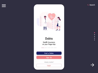 Dokta - Mobile Home page