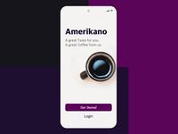 Amerikano Coffee App -  Login