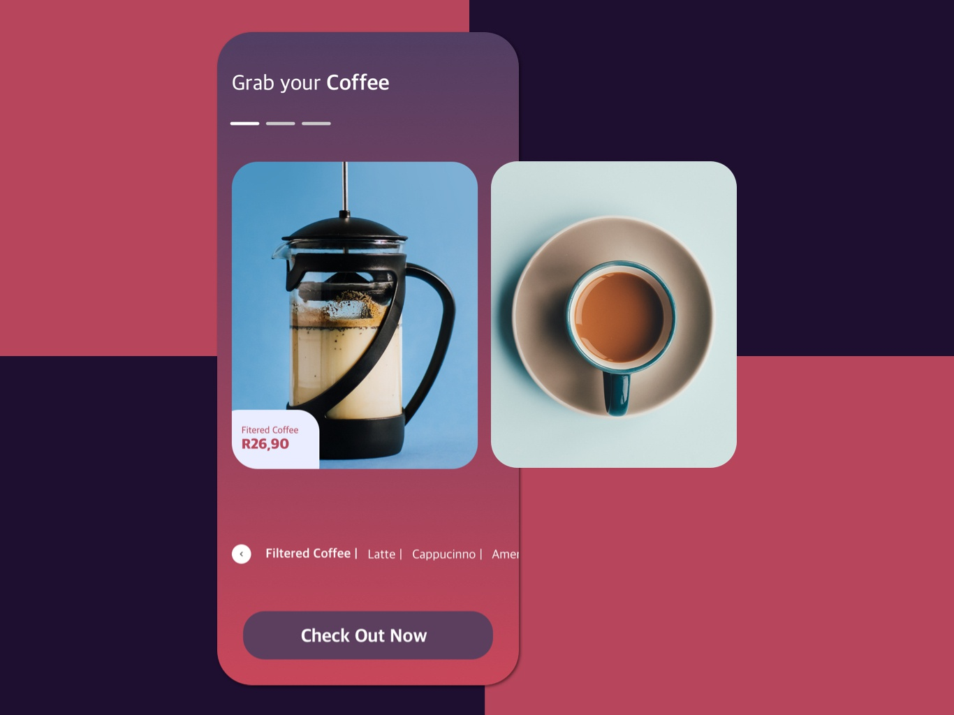 Grab your Coffee coffeeapp coffee mobile app minimal concept uxdesign ux uidesign ui interface product design