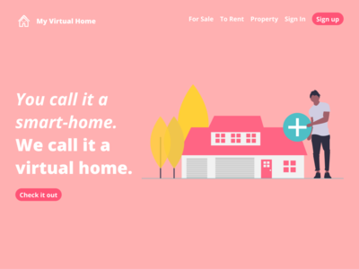 My Virtual Home - Landing page -Concept