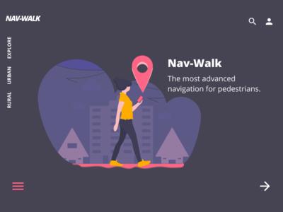 Nav Walk - Landing page -Concept