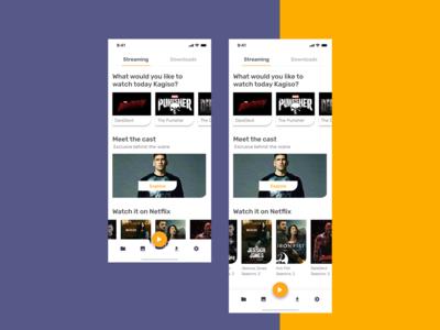 Marvel Streaming App -  Concept