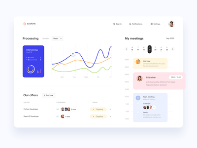 HR Management Platform 📈 - Web APP Dashboard & Calendar Concept graph calendar dashboard app hrm hr software hr app design web app web design dashboad clean design