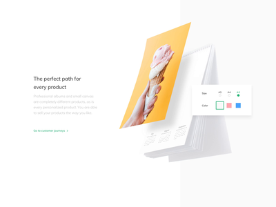 Printbox Website - Product Presentation whitespace clean design webdesign product page calendar ui interaction interface design