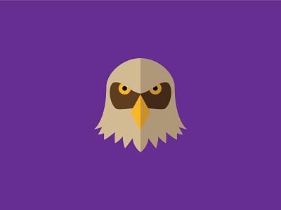 Kestrel simple illustration design avatar flat animals purple kestrel