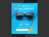 Sunglasses Email Sign Up Pop Up