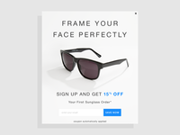 AC Lens Email Sign Up Pop Up for Sunglasses