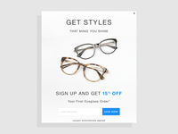 Acl Email Sign Up Pop Up Eyeglasses