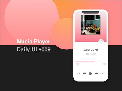 Music Player - #009 #Dailyui music player dailyui