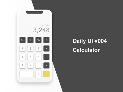 Calculator - #004 #Dailyui calculator dailyui