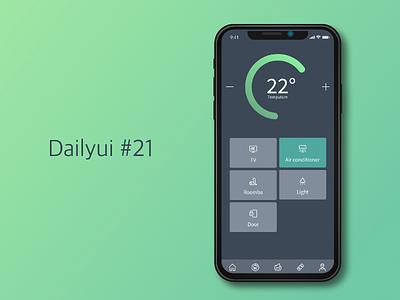 Dailyui #21 - Home controller control panel dailyui