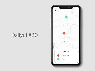 Dailyui #020 - Location Tracker gps location tracker dailyui