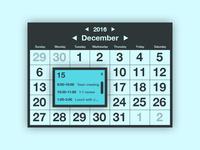 Daily UI: Calendar (Day 38)