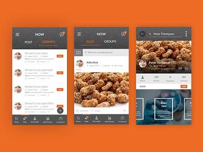 Dribble 3mockups social networking app mobile apps material design photoshop ux ui