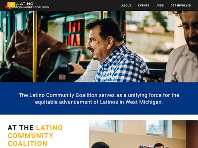 Latino Community Coalition Website Design information architecture website probono latino uidesign webdesign ux ui