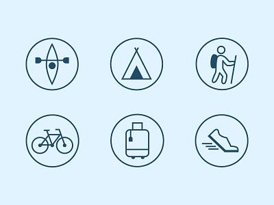 Hobby Icons outdoors hobbies icon set line icon icon