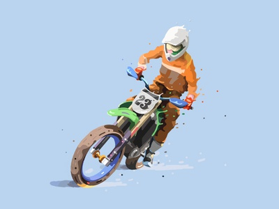 XX painting photoshop wfo fbi bbq carver flattrack 23 racing motorcycle