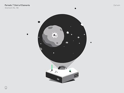 Cerium planet palantir illustration cerium space asteroid