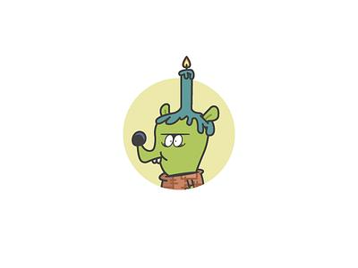 Day 31 outline iconography illustration vector chowder cartoon network gorgonzola icon design icon day 31