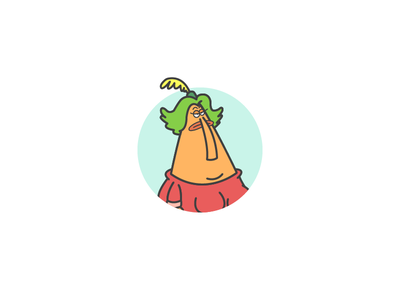 Ms. Endive outline iconography illustration vector chowder cartoon network ms endive icon design icon
