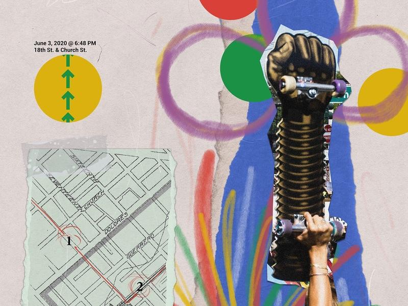 Bay Area Stands 02 Snippet illustrator vector photoshop analog collage design illustration black lives matter