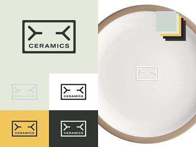 WIP - Ceramic Company Logo + Mockup branding design logo design logo typography design mockup graphic design branding ceramics