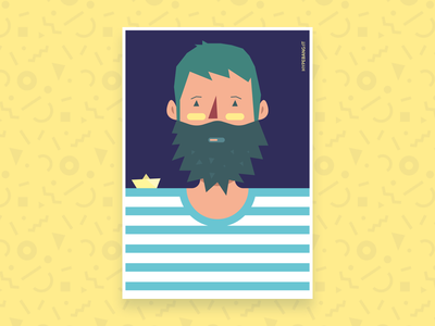 Sea you later ship craft sea interactive yellow poster hypebang trapani sicily illustration portrait