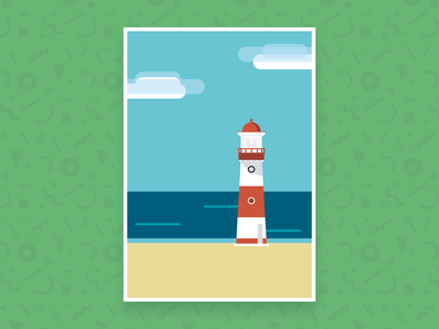 Light House italy sicily illustration sea sketch green lighthouse trapani hypebang