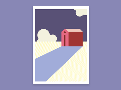 Countryside moody minimal color illustration trapani hypebang sicilia