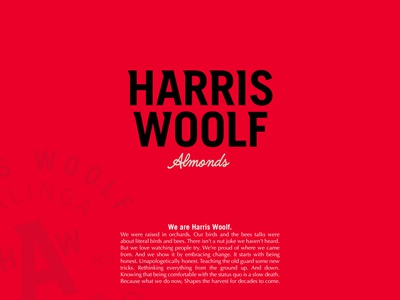 Harris Woolf Case Study