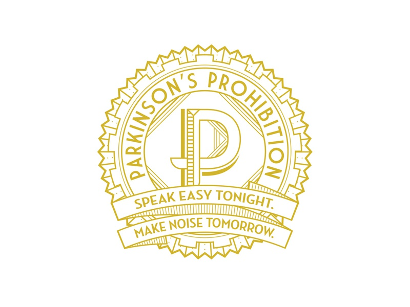 Parkinson's Prohibition design art deco vector logo