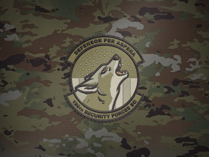 Subdued Unit Patch camouflage subdued patch air force illustration coyote