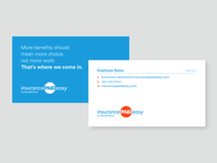 Business Card for Insurance Paid Easy