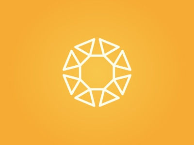 SUN! minimal logo geometric icon triangle octagon geometry sun