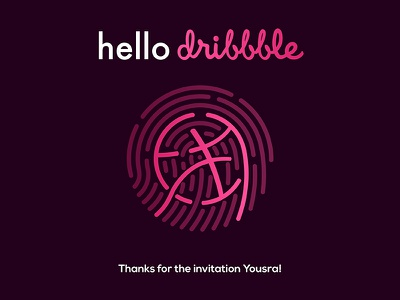 Hello Dribble! hey hello thanks first shot debut screen phone id touch fingerprint dribbble